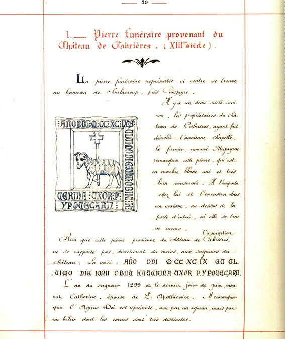 Page 59 du LIVRE DE CABRIERES